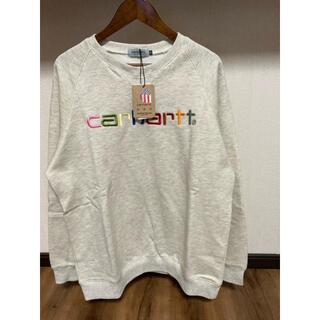 carhartt - 新品 未使用 タグ付き CARHARTT カーハート 刺繍ロゴ グレー スエット