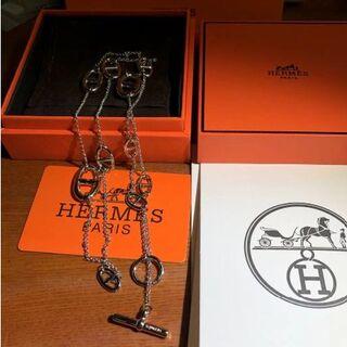 Hermes - 超美品!エルメス シェーヌダンクル ファランドール ネックレス 80cm