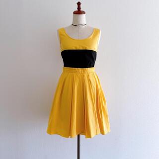 カルヴェン(CARVEN)の新品 CARVEN カルヴェン バイカラーワンピース ドレス 34(ひざ丈ワンピース)