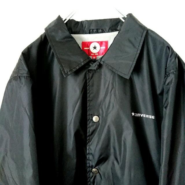 CONVERSE(コンバース)のCONVERSE コンバース 黒  コーチジャケット  ナイロンジャケット XL メンズのジャケット/アウター(ナイロンジャケット)の商品写真