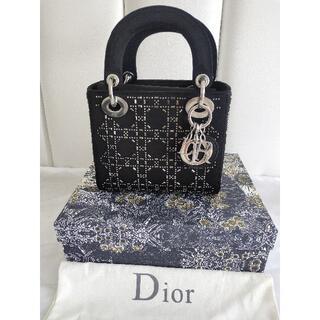 ディオール(Dior)のLADY DIOR ミニバッグ カナージュ サテン(ハンドバッグ)