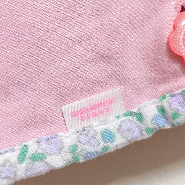 mikihouse(ミキハウス)のミキハウス ポンチョ ケープ 70 80 90 リバティ 花柄 ピンク マント キッズ/ベビー/マタニティのベビー服(~85cm)(その他)の商品写真