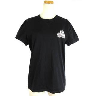 モンクレール(MONCLER)のモンクレール 18AW Tシャツ カットソー 半袖 ダブル ワッペン 黒 XS(Tシャツ(半袖/袖なし))