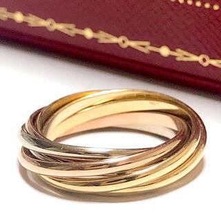 Cartier - 【美品】Cartier カルティエ 750スリーカラー トリニティ 7連リング