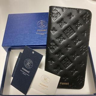 ラシット(Russet)の新品 russet ラシット スマホケース ブラック 手帳型 (モバイルケース/カバー)