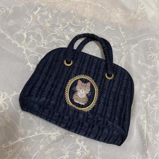 vintageレトロ*猫ちゃん刺繍ハンドバッグ