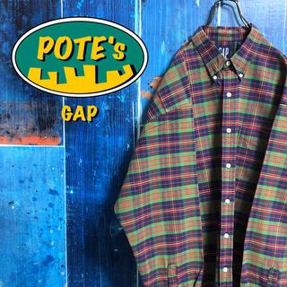 【オールドギャップGAP】ポケットレトロビッグチェックシャツ 90s