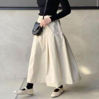 ムジルシリョウヒン(MUJI (無印良品))の無印良品♡高密度織りタックスカート セット(ロングスカート)