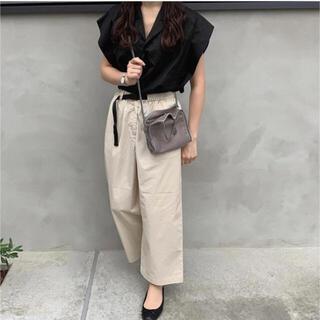 MUJI (無印良品) - 無印良品♡ストレッチ高密度織り クロップドワイドパンツ