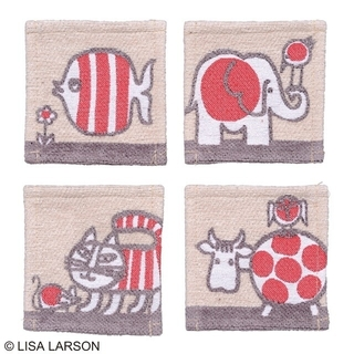 リサラーソン(Lisa Larson)のリサ ラーソン ベイビーマイキーコースター  4枚組(テーブル用品)