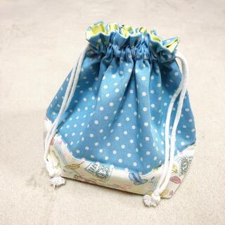 お弁当袋 コップ袋 ハンドメイド 女の子 巾着 音符 バイオリン ピアノ(外出用品)