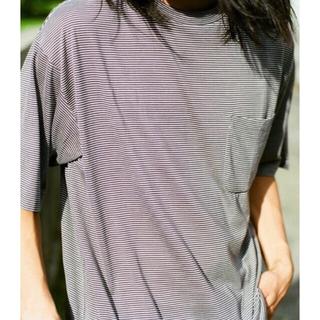 COMOLI - 【試着のみ】COMOLI  2021SS ウール天竺ボーダーTシャツ サイズ2