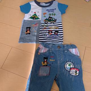 mikihouse - ミキハウス Tシャツ パンツ ダブルビー 90