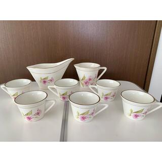 ジアン アンティーク エスプレッソカップ6個 ミルク入れセット(食器)