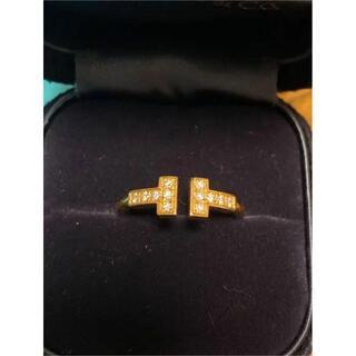 Tiffany & Co. - ティファニーT ダイヤモンドワイヤーリング 18Kゴールド