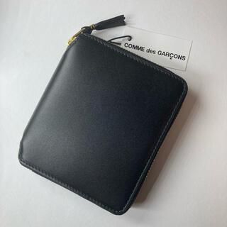 COMME des GARCONS - コムデギャルソン ラウンドジップ折り財布 ブラック レザー SA2100