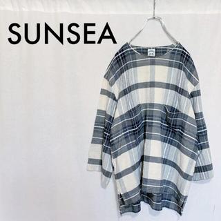 サンシー(SUNSEA)の【定価3万】SUNSEA Check Odd-Sleeve Pullover(シャツ)