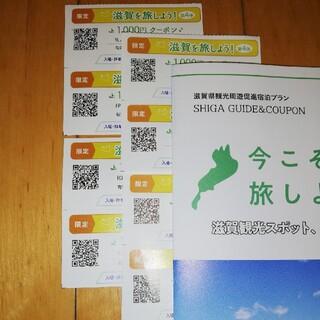 今こそ滋賀を旅しよう 第4弾 クーポン券 限定券 8,000円分