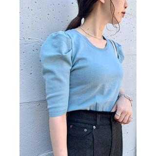 カスタネ(Kastane)のKastane パフニット5分袖Tee(Tシャツ(半袖/袖なし))