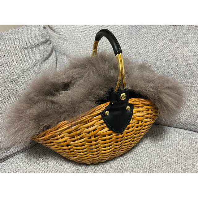 DEUXIEME CLASSE(ドゥーズィエムクラス)のヴィオラドーロ かごバッグ ファー イエナ スローン エイトン ロンハーマン レディースのバッグ(かごバッグ/ストローバッグ)の商品写真