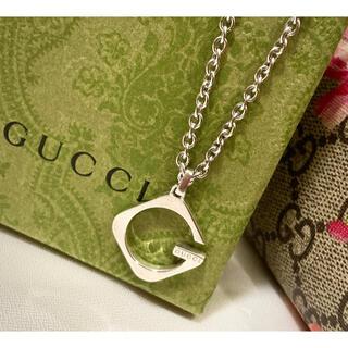 Gucci - グッチ Gロゴ/Gモチーフ ネックレス/ペンダント シルバー925