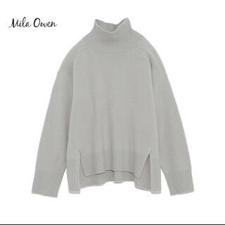 Mila Owen - 新品 [ミラオーウェン] ヤク混ハイネックルーズニットトップス