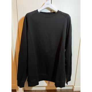 コモリ(COMOLI)のcomoli コットンシルク長袖クルー ブラック 2(Tシャツ/カットソー(七分/長袖))