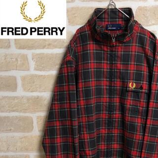 FRED PERRY - FRED PERRY フレッドペリー ジャージ チェック 刺繍ワンポイント M
