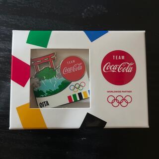 コカ・コーラ - コカコーラ オリンピックピンバッジ 非売品 大分 送料無料