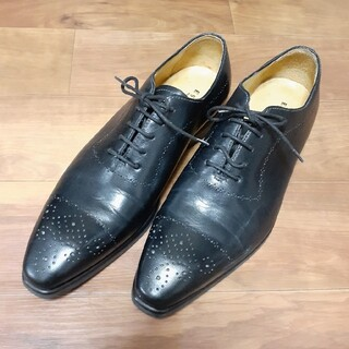 『ESPOIR』革靴 イタリア製 黒 メンズ ビジネスシューズ スーツ 就活