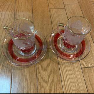 Baccarat - riccardo ヴィンテージ レトロ クリスタルガラス グラス  昭和レトロ