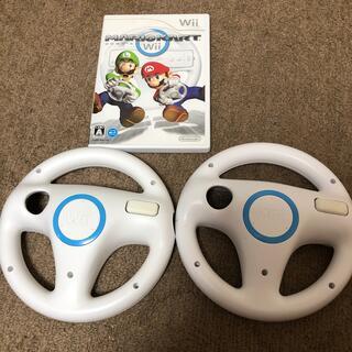 Wii - マリオカートwii ハンドル2個