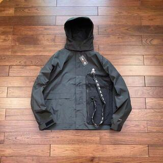 MASTERMIND JAPAN BONE 21AW  ステンカラーコート 黒 (ノーカラージャケット)