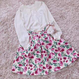 エディットフォールル(EDIT.FOR LULU)の今週限定 rose garden skirt(ひざ丈スカート)