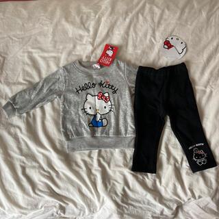 サンリオ(サンリオ)の新品♡ハローキティ トレーナー パンツ ズボン 90(Tシャツ/カットソー)