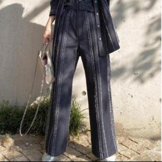 アメリヴィンテージ(Ameri VINTAGE)のamerivintage needle stripe denim pants(デニム/ジーンズ)
