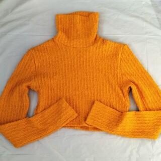 Bershka - Bershka ベルシュカ ハイネックニットセーター usaLサイズ オレンジ