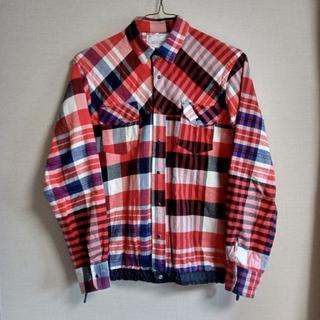 sacai - sacai サカイ ドローコードシャツ クレイジーパターンチェックシャツ