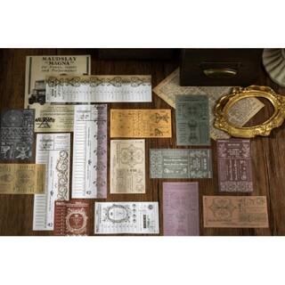 レトロ メモパッド 8種 400枚 ヴィンテージ メモ帳 コラージュ 海外1