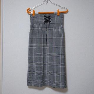 エージーバイアクアガール(AG by aquagirl)のチェックタイトスカート(ひざ丈スカート)