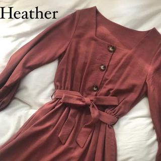ヘザー(heather)の【Heather/ヘザー】リボン ロングワンピース(ロングワンピース/マキシワンピース)