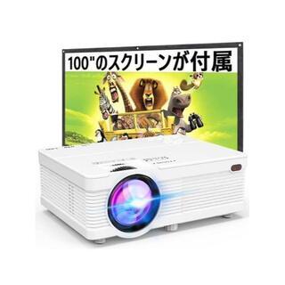 データプロジェクター スクリーン付属 6000LM 1080PフルHD対応可