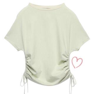 eimy istoire - 半額以下♡eimyistore サイドギャザーフレンチスリーブトップス Tシャツ