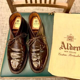 Alden - 名作❗️《ALDEN》1339コードバン 7Dチャッカ シューバッグ付属