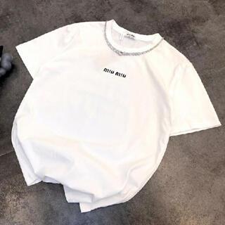 ミュウミュウ(miumiu)のmiumiu Tシャツ(Tシャツ(半袖/袖なし))