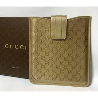 グッチ(Gucci)のグッチ GUCCI  GG柄 iPadケース ビジネス ゴールド(iPadケース)