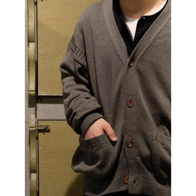 COMOLI(コモリ)のphlannel Cotton Linen Guernsey Cardigan メンズのトップス(カーディガン)の商品写真