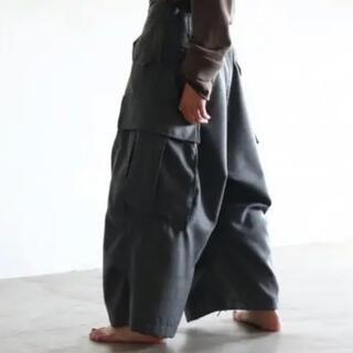 コモリ(COMOLI)のSOUMO | CARGO TROUSERS 51 (GRAY)(ワークパンツ/カーゴパンツ)