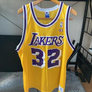 Champion - NBA レイカーズ マジックジョンソン ユニフォーム #32