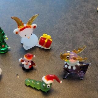 ピーチ様専用〜ガラス細工 ミニチュア クリスマス ぞうさん お雛様 クマさん